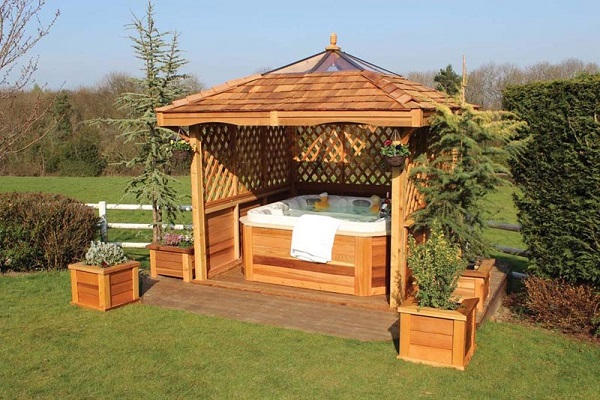 hot tub gazebo feature