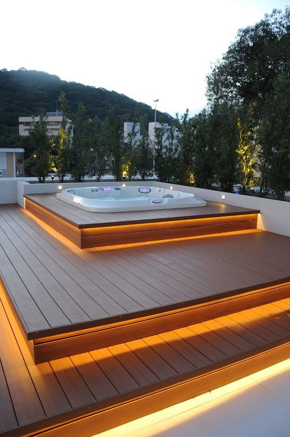 hot tub under deck 19