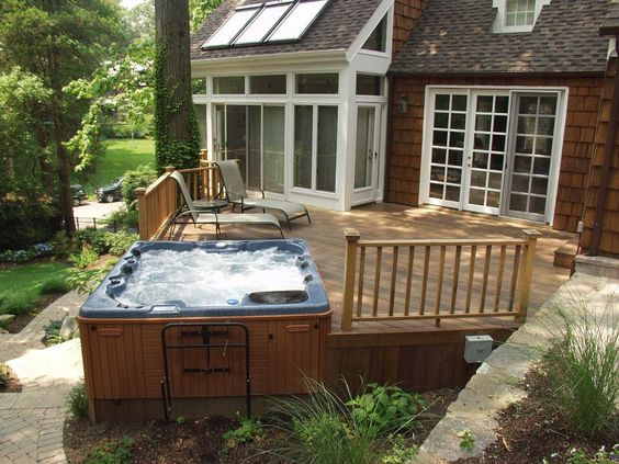 hot tub under deck 6