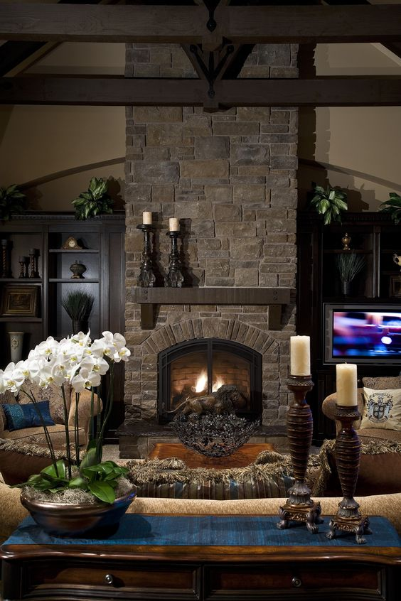 living room fireplace 7