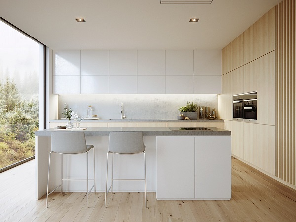 modern minimalist bedroom kitchen | 25+ Stylishly Gorgeous Minimalist Kitchen Inspirations For ...