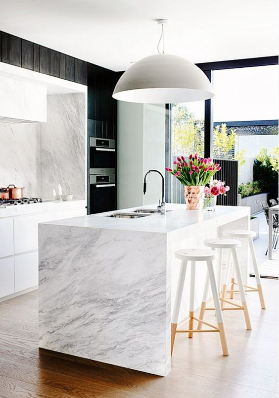 minimalist kitchen island 1