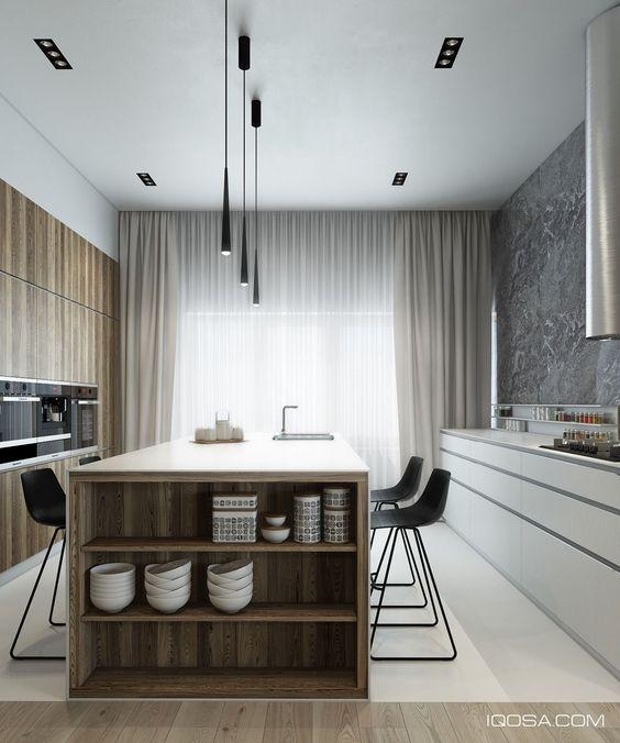 minimalist kitchen island 12