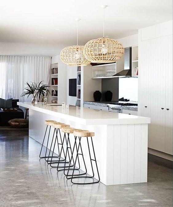 minimalist kitchen island 13