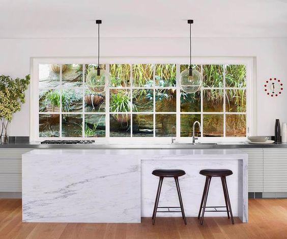 minimalist kitchen island 14