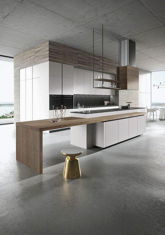 minimalist kitchen island 8