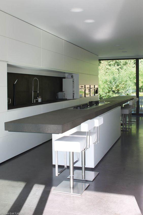 minimalist kitchen island 9