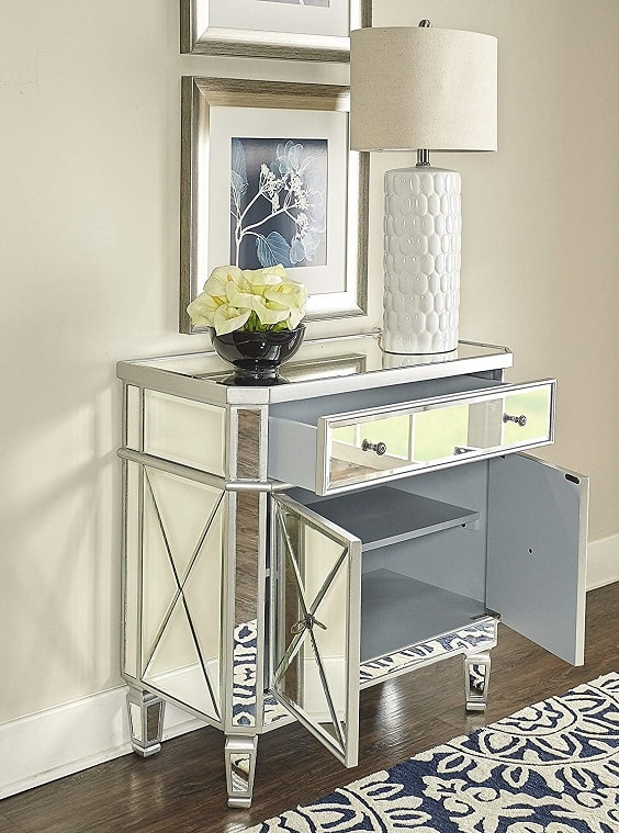 mirrored bedroom furniture 5-min