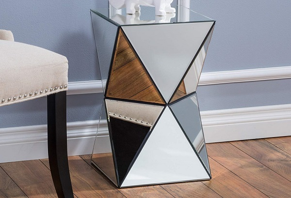 mirrored bedroom furniture feature
