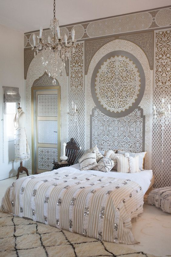 25+ Coziest and Catchiest Moroccan Bedroom Decorating ...