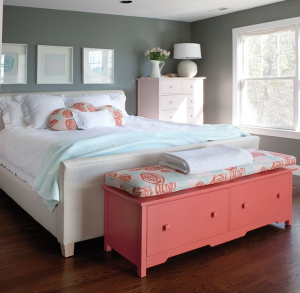 neutral girls bedroom feature