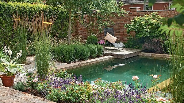 pond swimming pool feature
