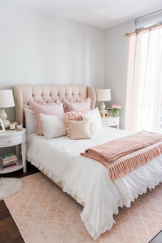 rose gold bedroom ideas 15