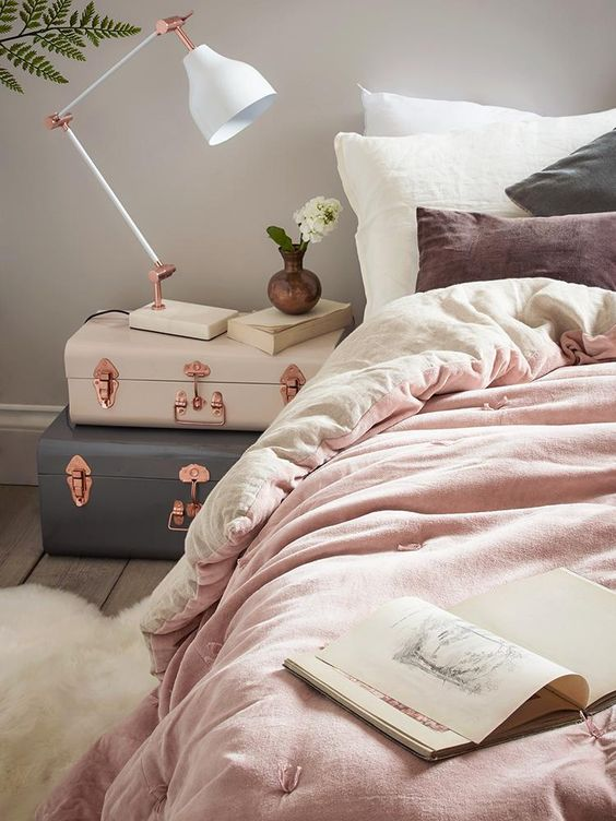 rose gold bedroom ideas 17