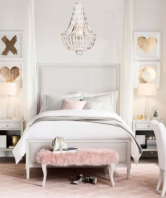 rose gold bedroom ideas 18