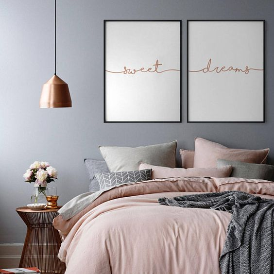 rose gold bedroom ideas 6