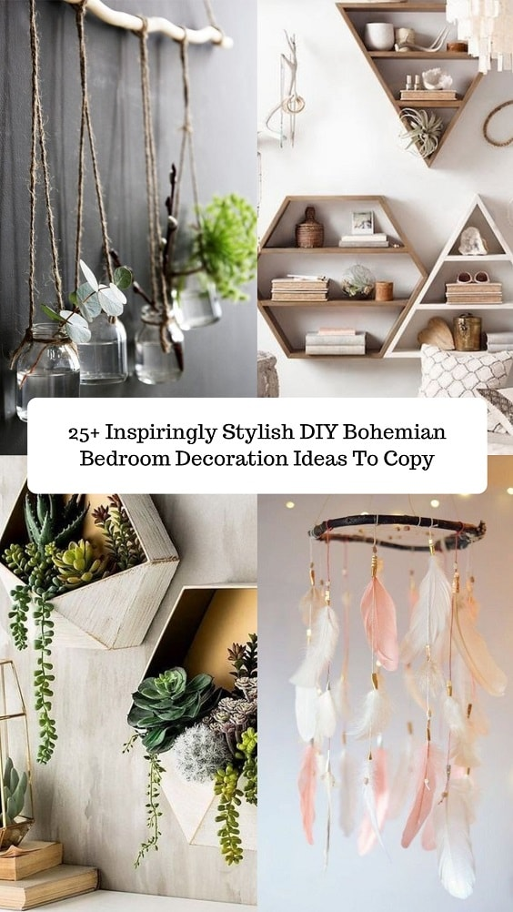 DIY Bohemian Bedroom-min