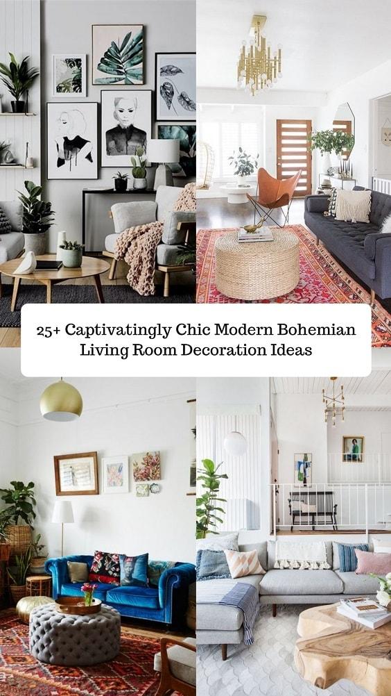 Modern Bohemian Living Room-min