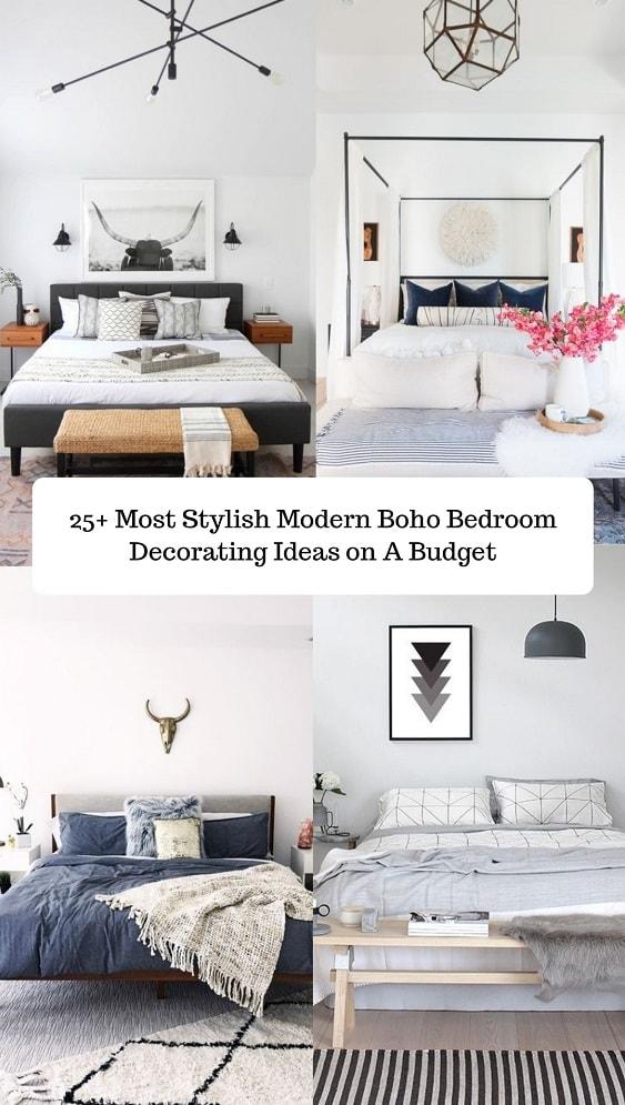 Modern Boho Bedroom-min