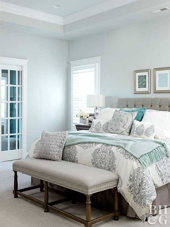 25+ Most Stunning Soft Blue Master Bedroom Ideas with Modern ...