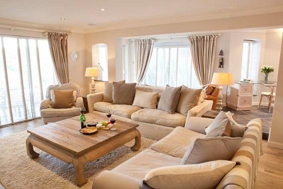 beige living room feature