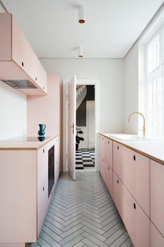 blush pink kitchen 1