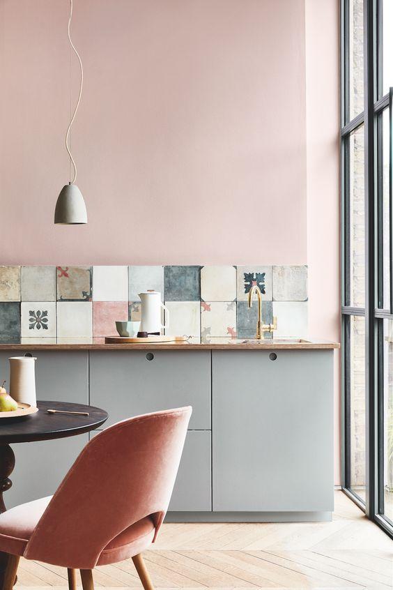 blush pink kitchen 16