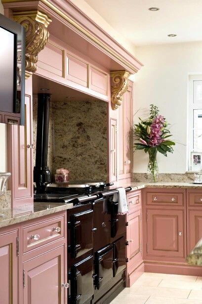 blush pink kitchen 21