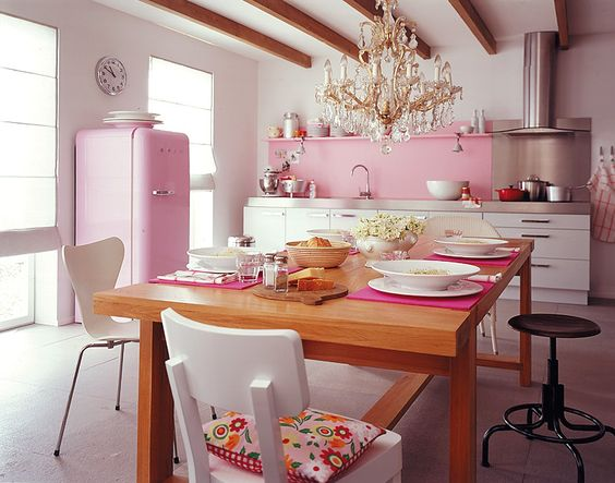 blush pink kitchen 24