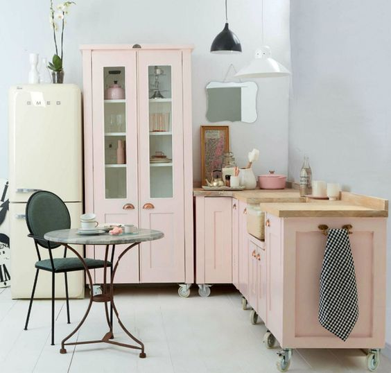 blush pink kitchen 25