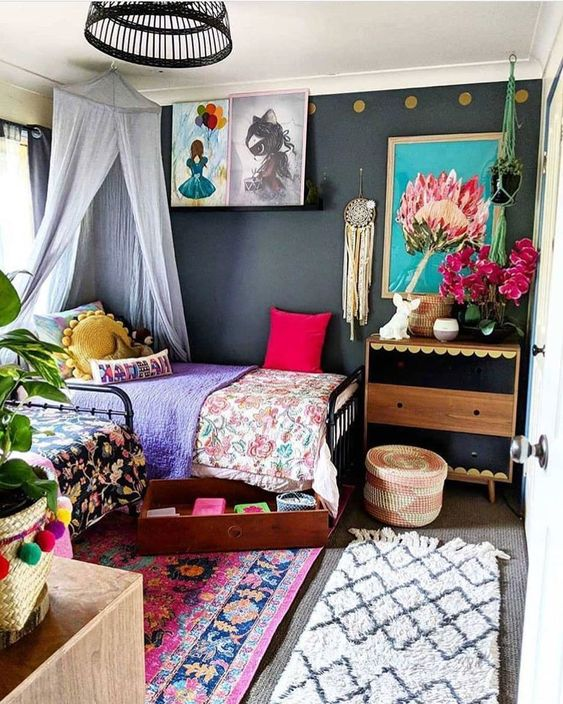 eclectic bedroom 10