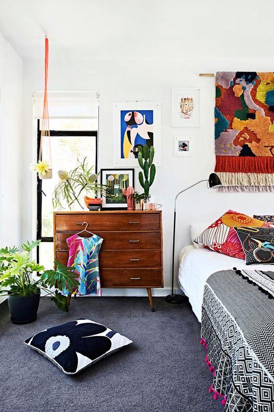 eclectic bedroom 9