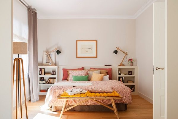 eclectic bedroom feature