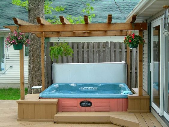 hot tub surround ideas 11