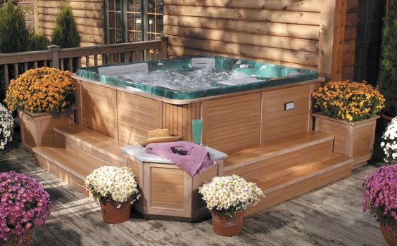 hot tub surround ideas 12