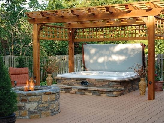 hot tub surround ideas 19