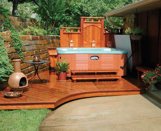 hot tub surround ideas 20