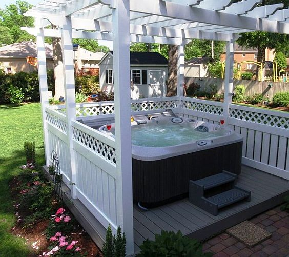 hot tub surround ideas 21