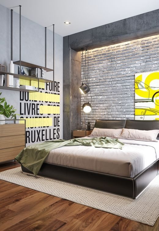 industrial bedroom 10