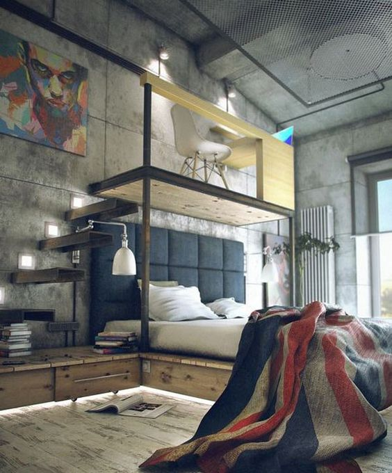 industrial bedroom 3