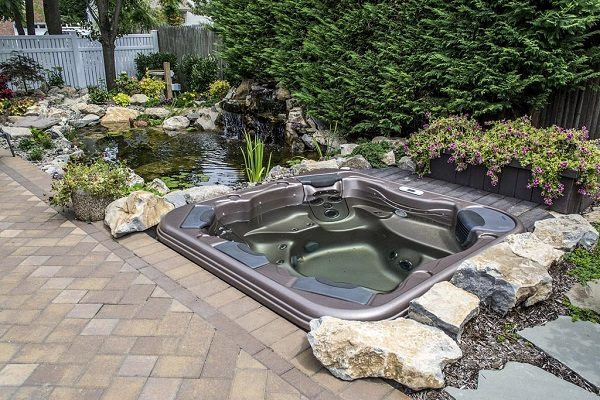 inground hot tub feature