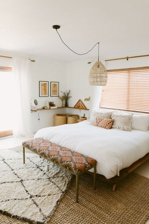 25+ Most Stylish Modern Boho Bedroom Decorating Ideas on A ... on Modern Boho Bed Frame  id=55662