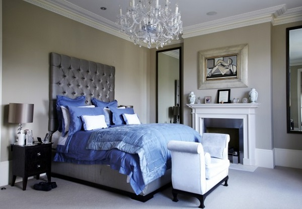 modern french bedroom feature