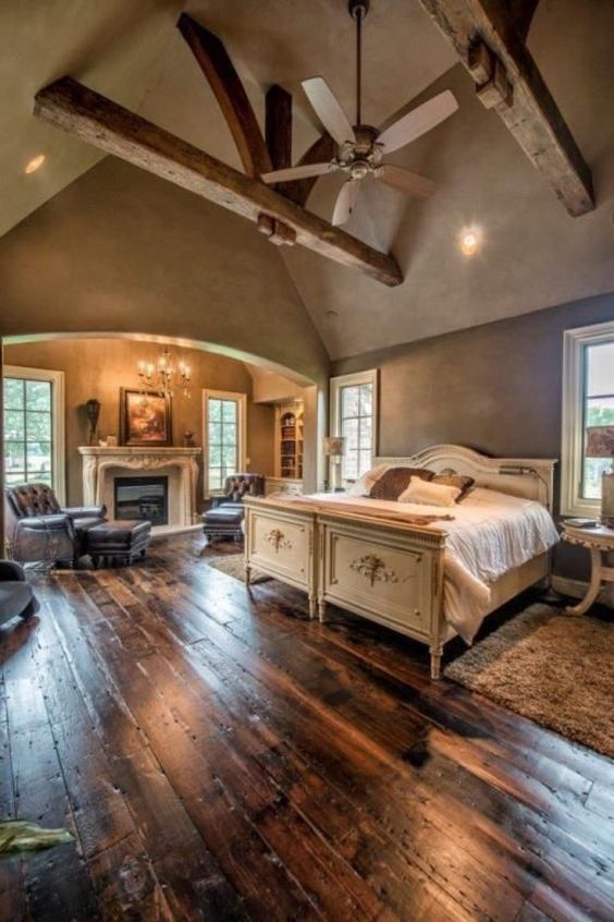rustic master bedroom 11