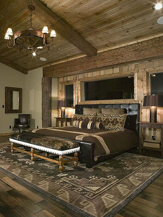 rustic master bedroom 13