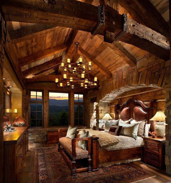 rustic master bedroom 15