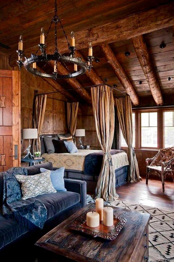 rustic master bedroom 16
