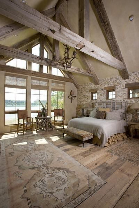 rustic master bedroom 21