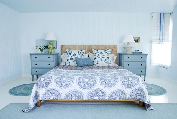 soft blue bedroom feature
