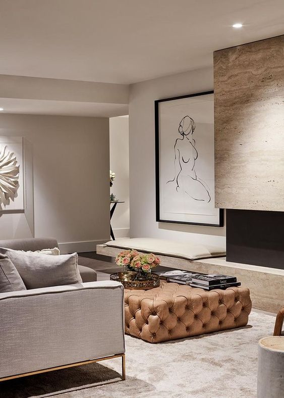 taupe living room 15